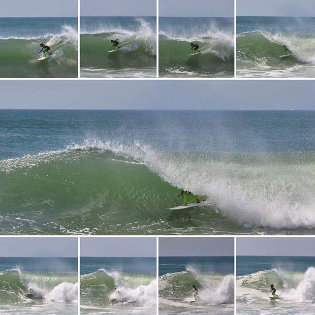 Young Mr. Goodwin with tube-tickling poise well beyond his years. Yesterday somewhere in New England. Photo credit goes to his mom. she nailed it!  #Equipped2Rip #j7surfboards