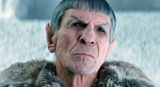 Nimoy in the rebooted Star Trek (2009)