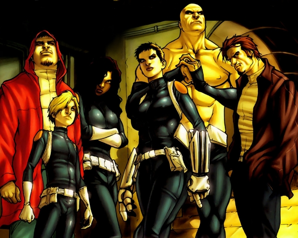 Nick Fury's hardcore Secret Warriors. That's Skye with the short and standing tall like a leader.