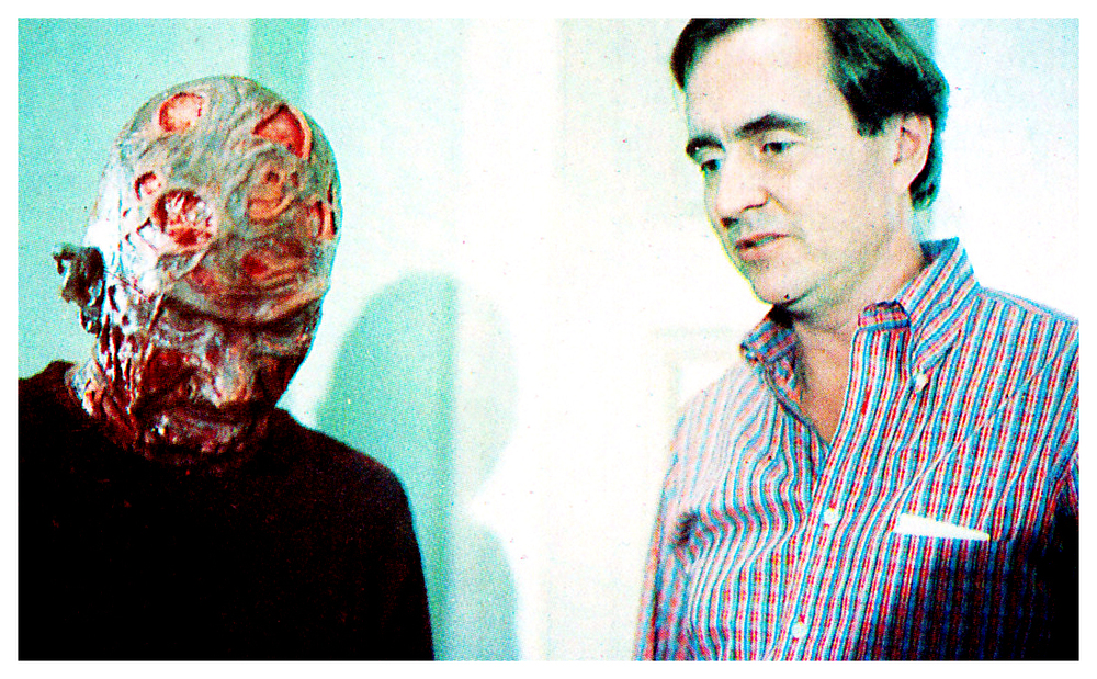 Robert Englund (left) as Freddy Kruger with creator Wes Craven.