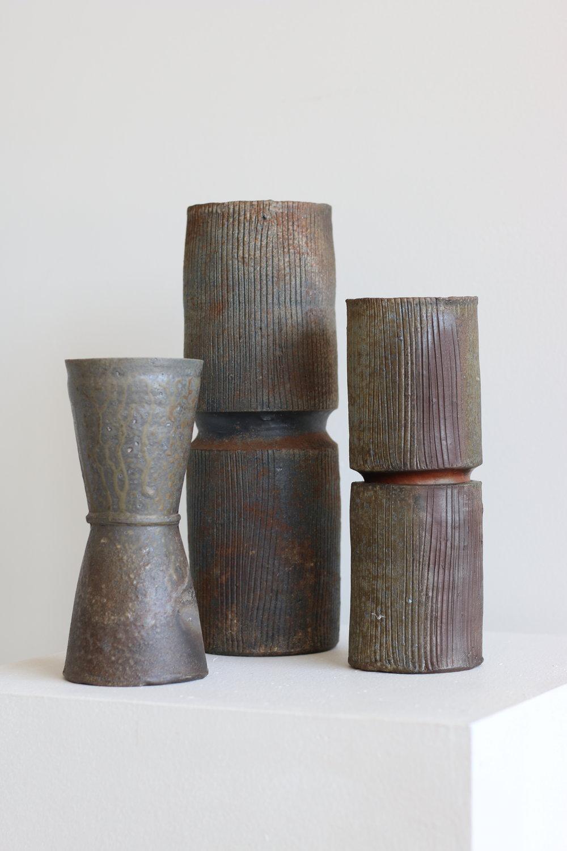 Various Stoneware Vases - Group
