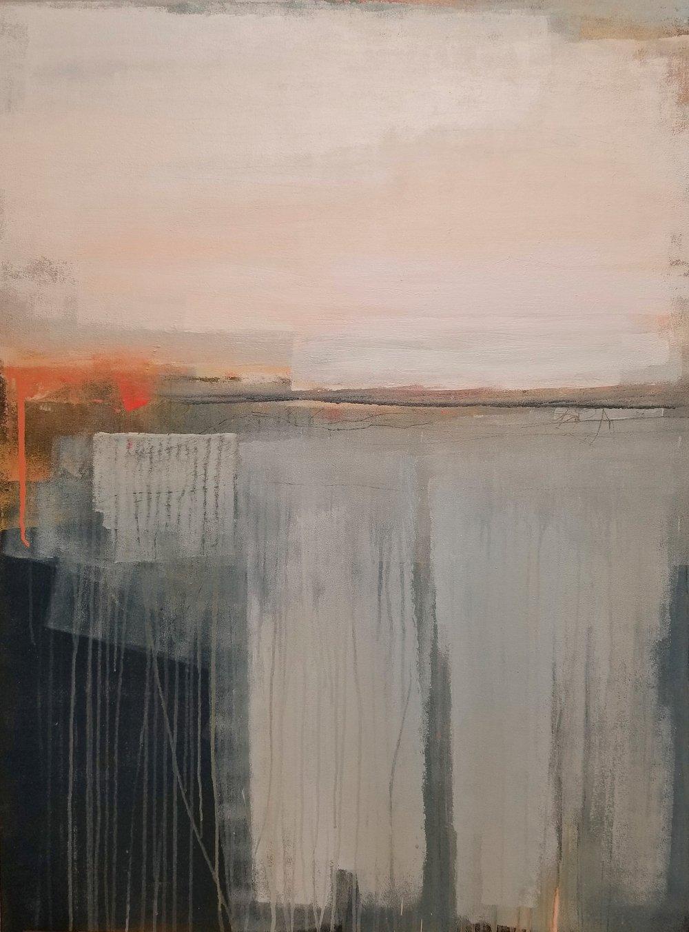"Alabaster Sky   Allison Johanson  acrylic on canvas  48"" x 36"""