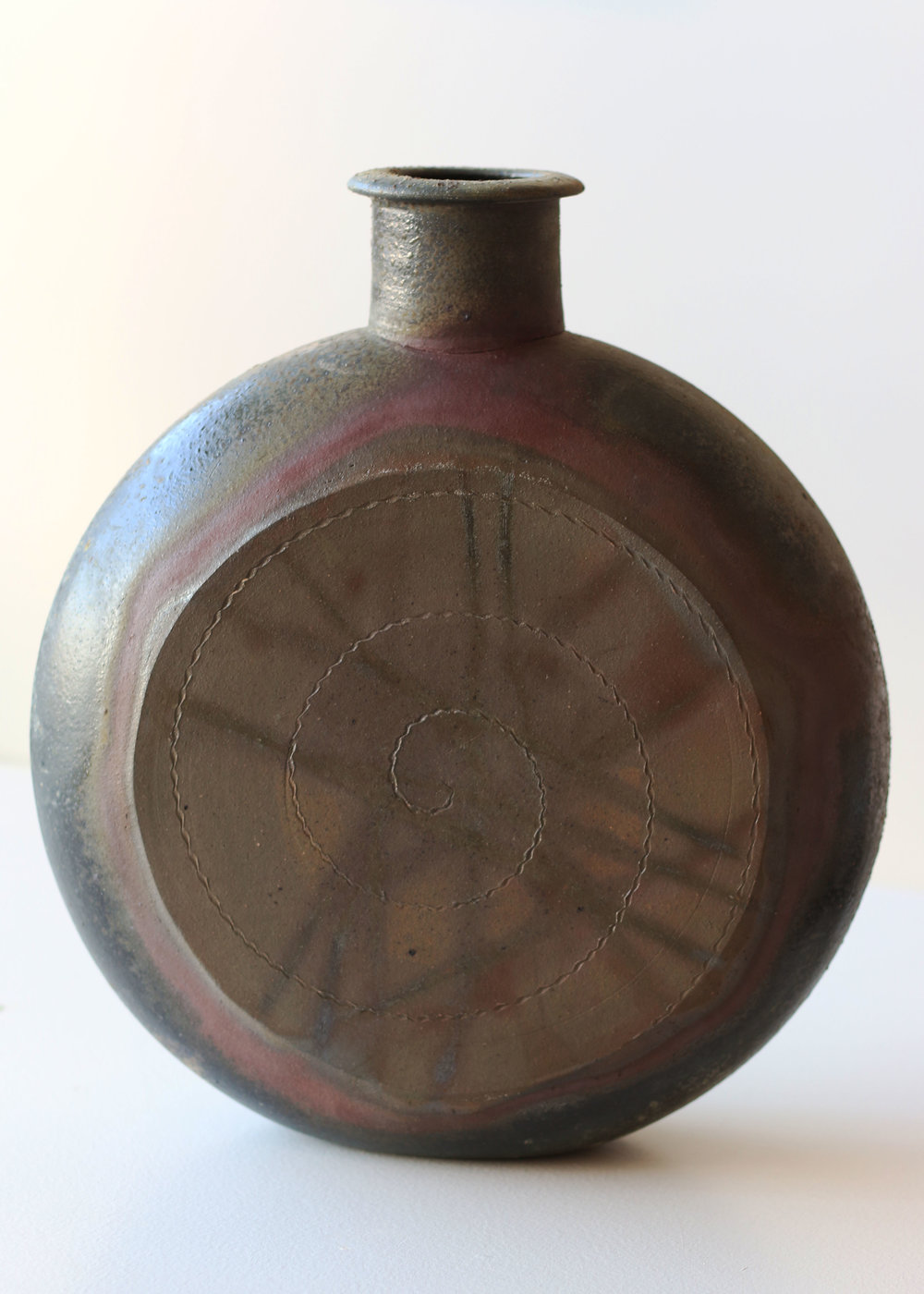 Pilgrim Flask with cross hatching