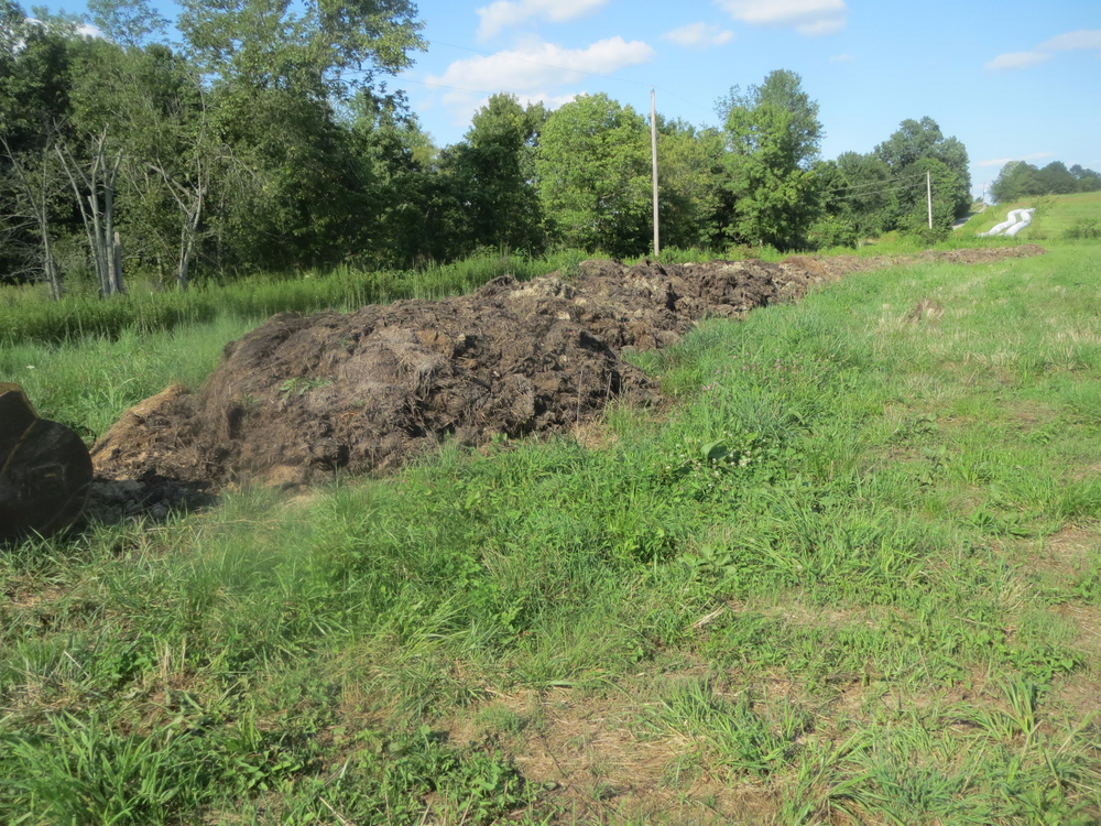 Manure and straw to be turned and composted, before spreading.