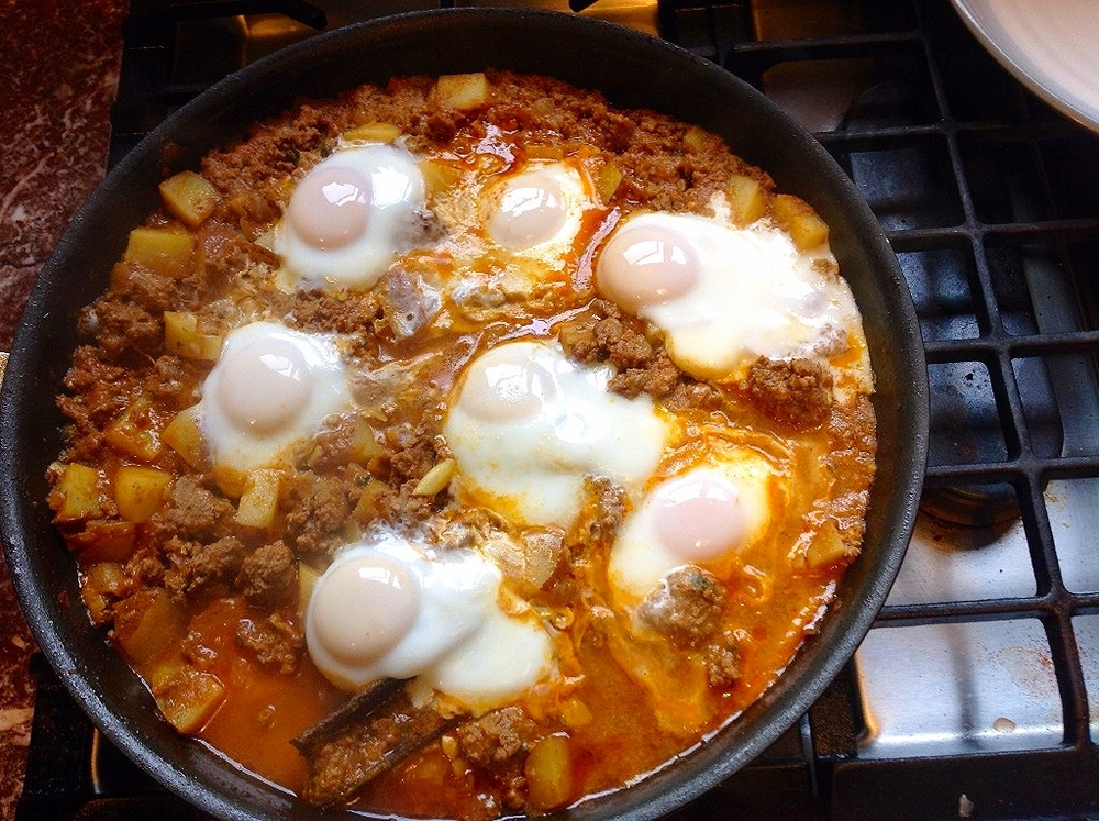 Moroccan lamb hash and poached eggs  - delicious for cool weather!