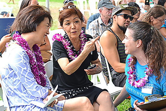 First Ladies Dawn Amano Ige and Lynne Waihee