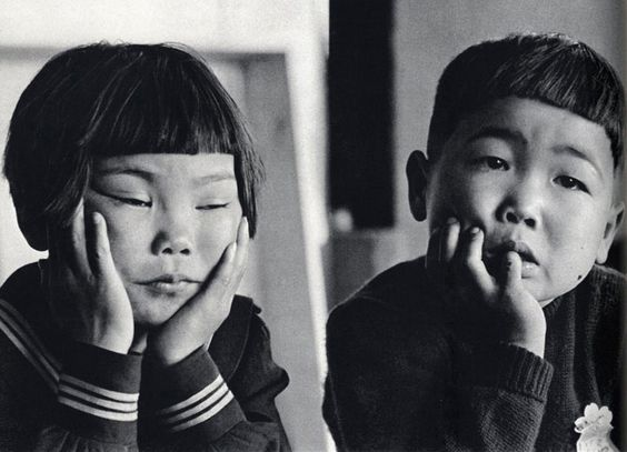 —17. Children attending the School for Children of Boat People, Tokyo, Japan, 1956.