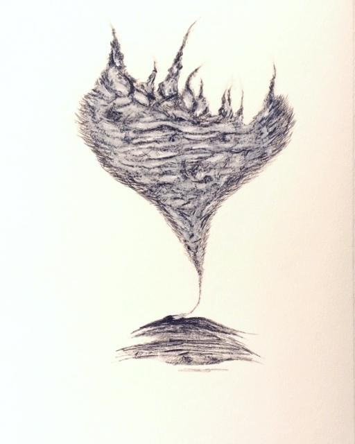 """Untitled,  Graphite/Chalk  7"""" x 9.75"""""""