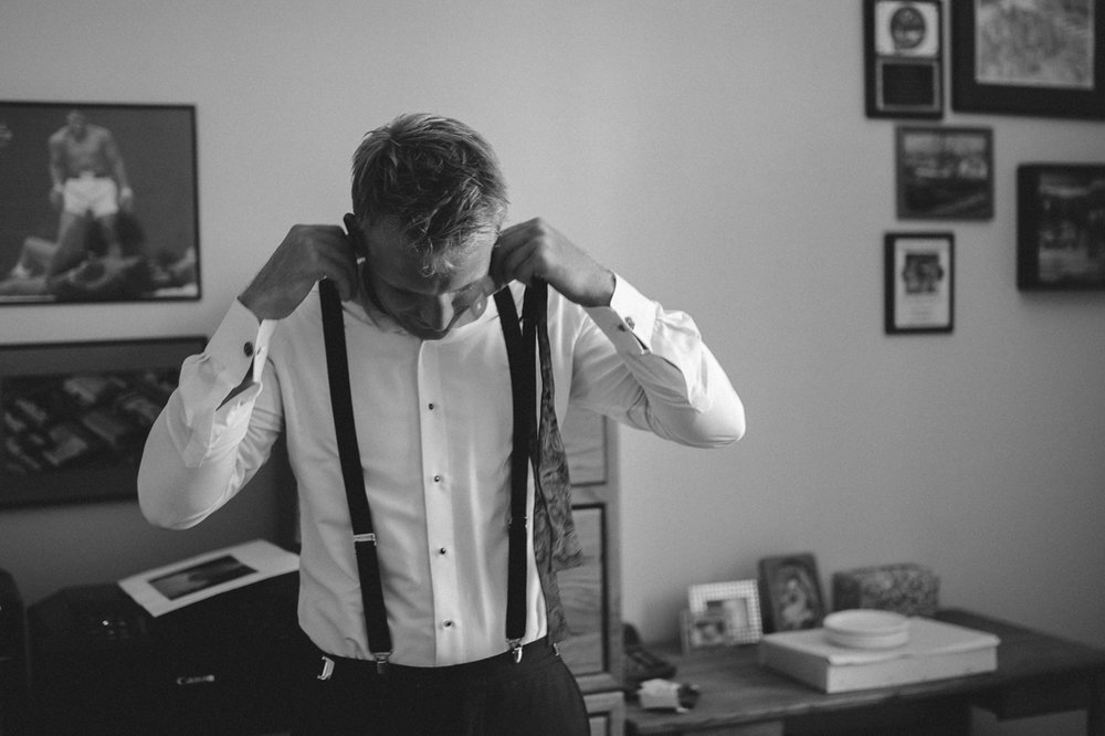 Lake Tahoe California Wedding Photographer groom getting ready photo