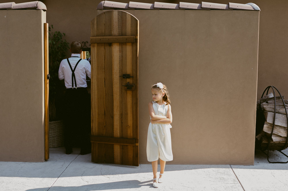 Lake Tahoe California Wedding Photographer groom and the flower girl photo