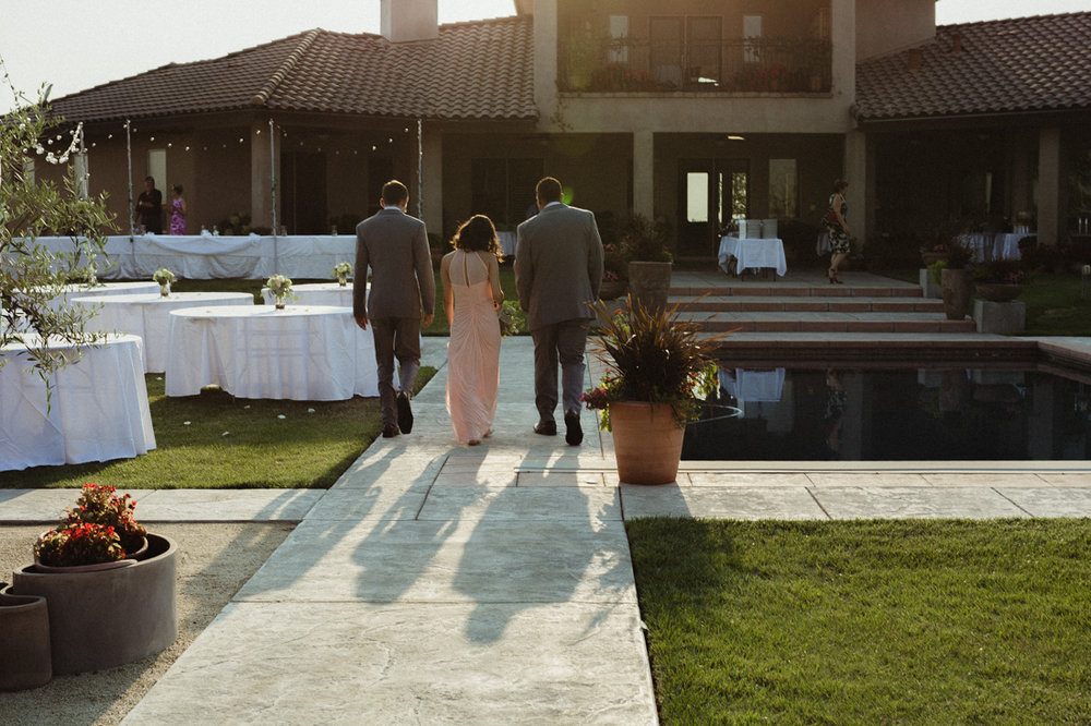 California Wedding private venue photo during golden-hour