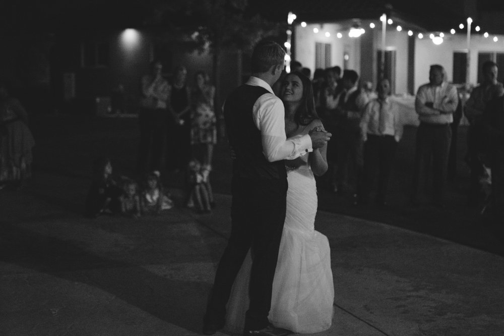California Wedding private venue  bride and groom dancing photo