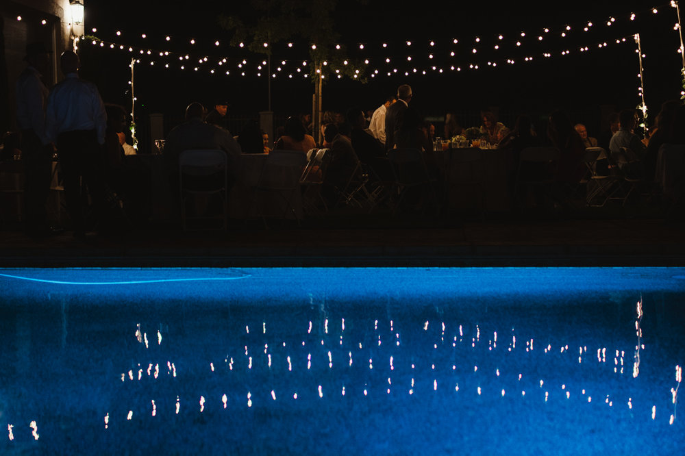 California Wedding private venue evening photo