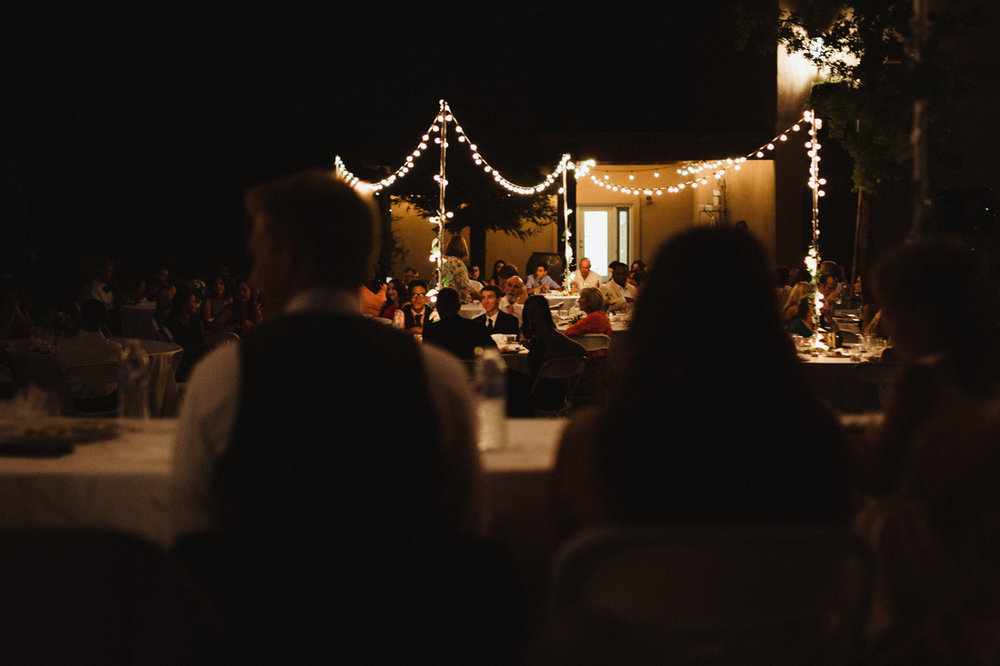 California Wedding private venue bride and groom dinner photo