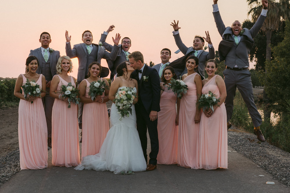 California wedding private venue bridal party photo