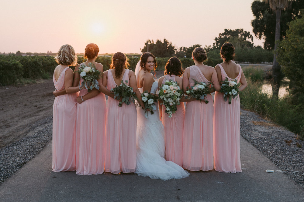 California wedding private venue bride and her bridesmaids photo