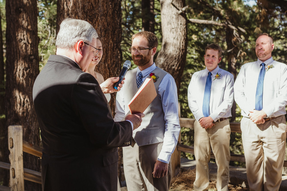 Galena Creek Hatchery groom saying his vows photo
