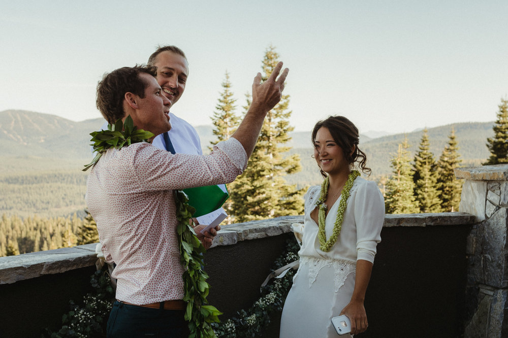 North Tahoe Lodge wedding photo