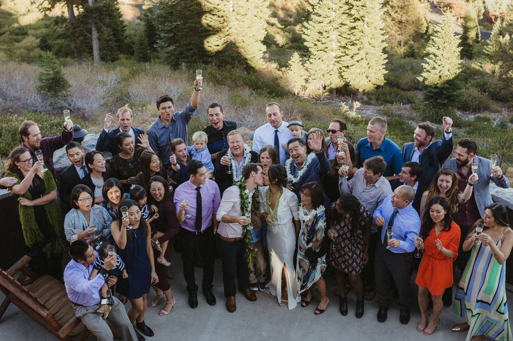 North Tahoe Lodge wedding guests photo