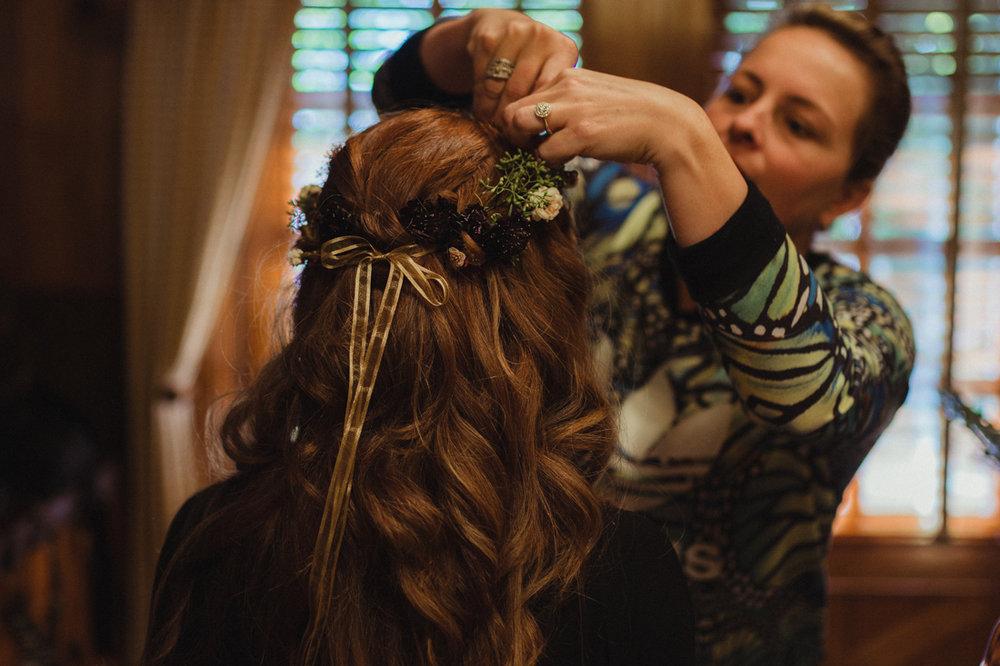 Incline Village wedding flower crown photo