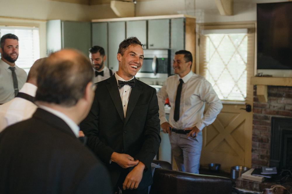 Incline Village wedding groom photo