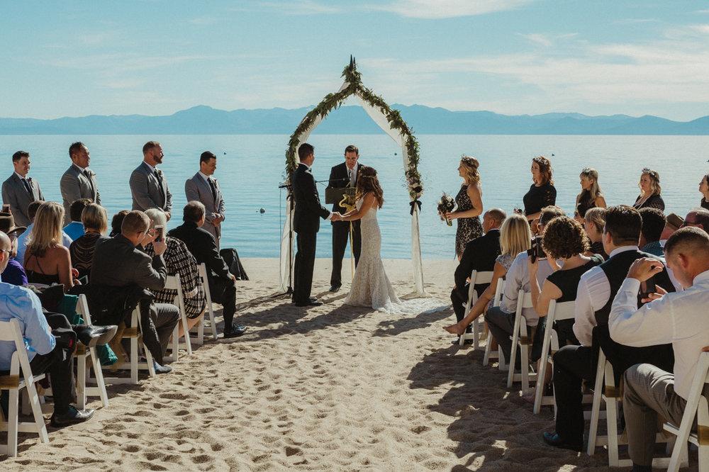 Incline Village wedding venue at the beach