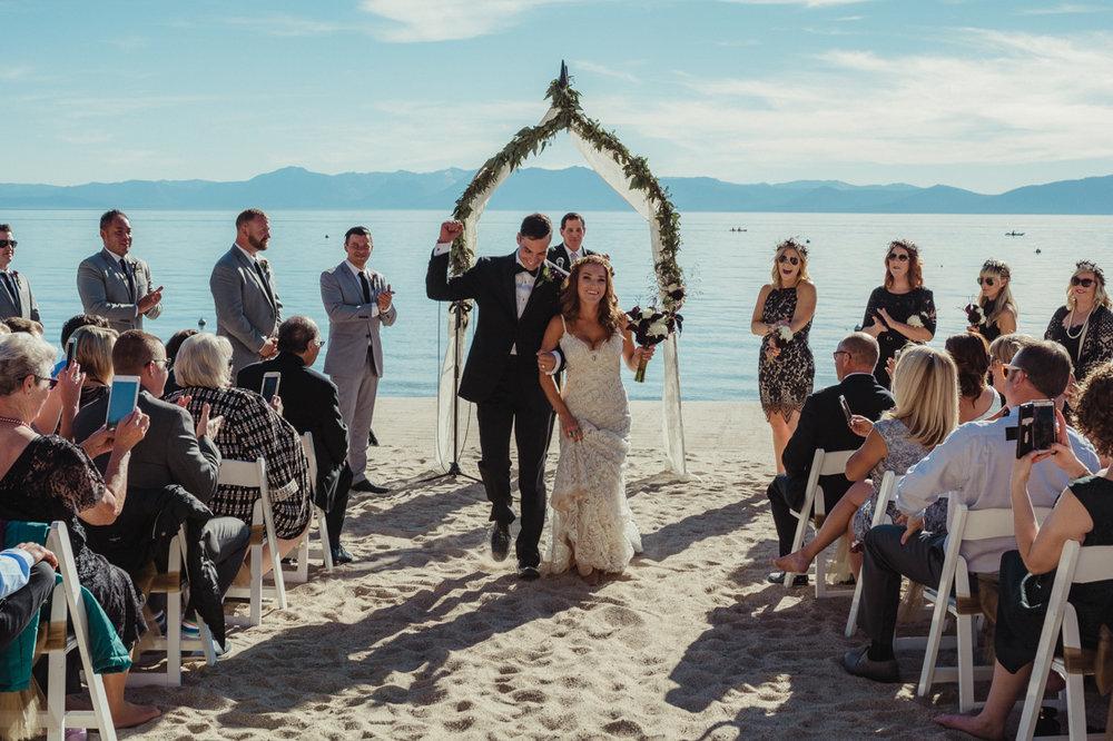 Incline Village wedding venue couples photo
