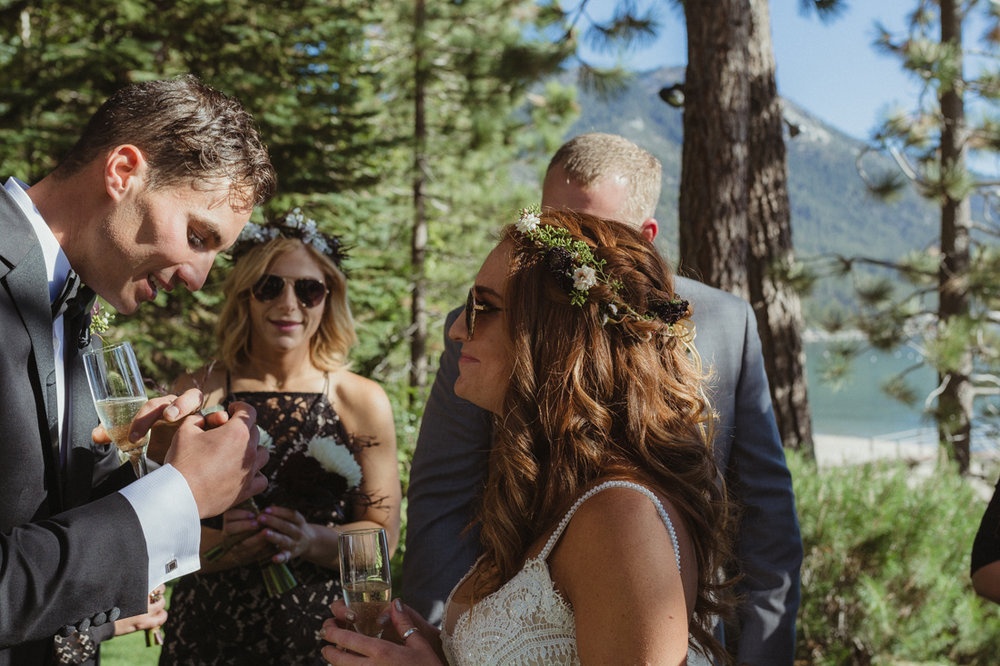 Incline village wedding band photo