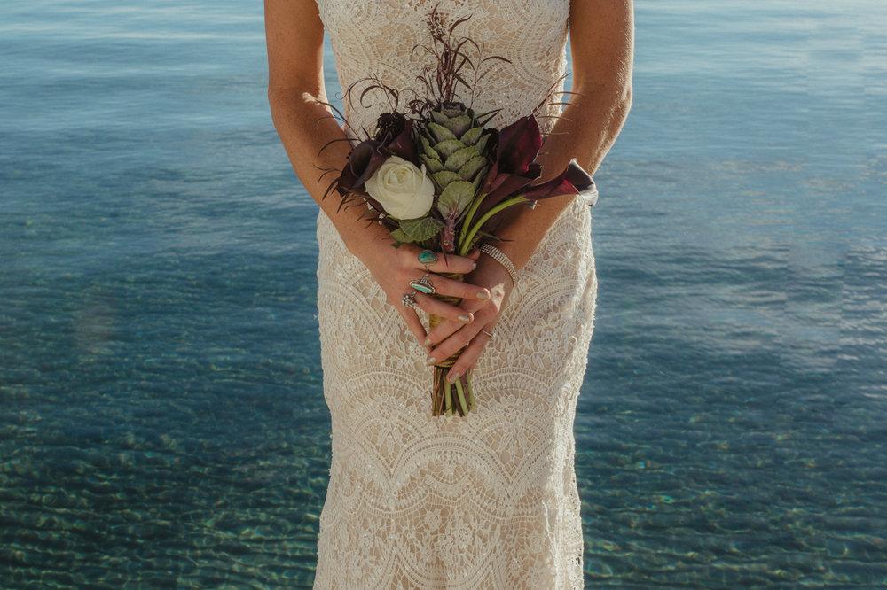 Incline Village wedding flowers photo