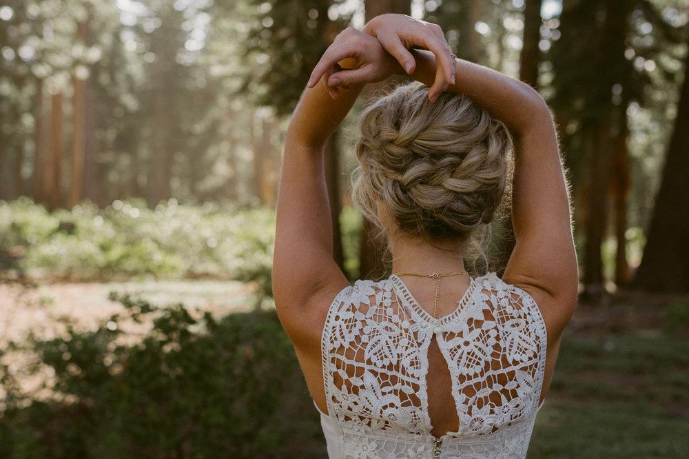 Bohemian bridal hair inspiration