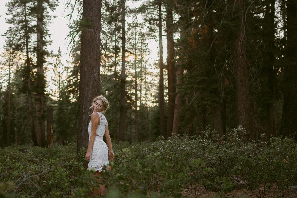Bohemian bride inspiration photo