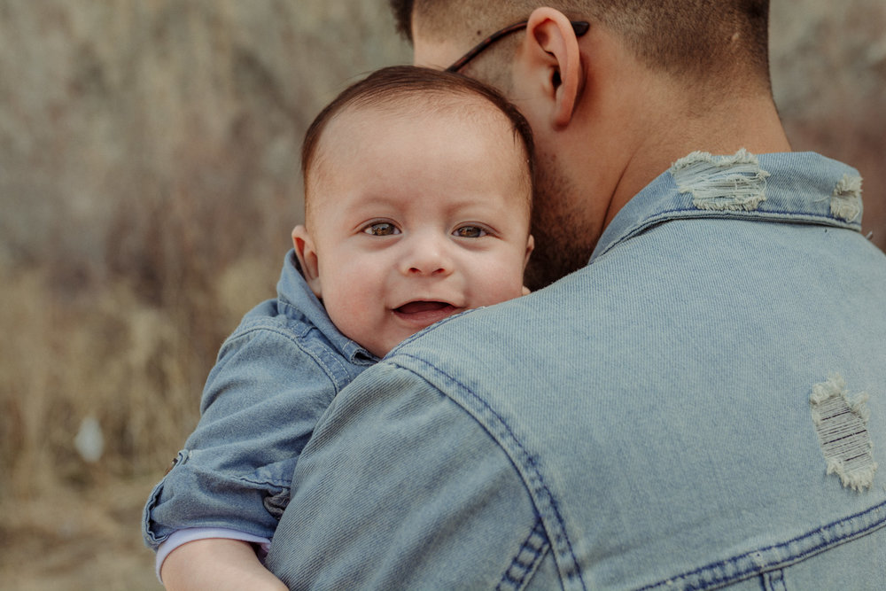 Wilson Canyon Family Session baby photo