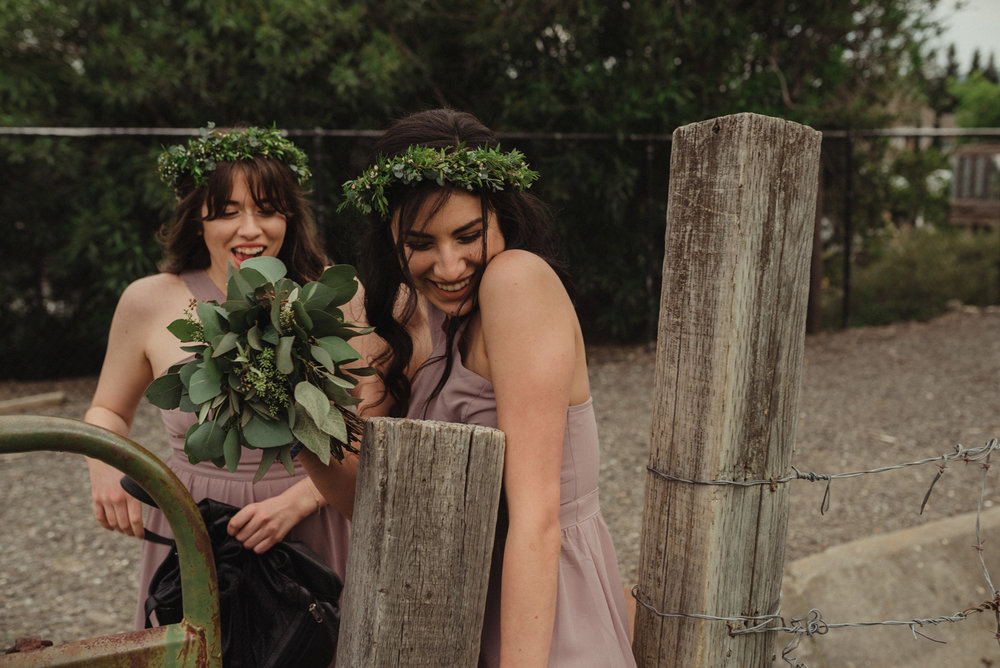 Vacaville wedding bridesmaids photo