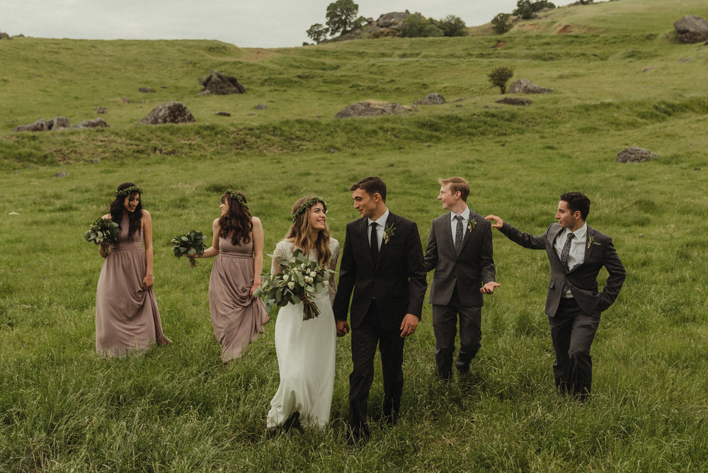 Vacaville wedding bridal party photo
