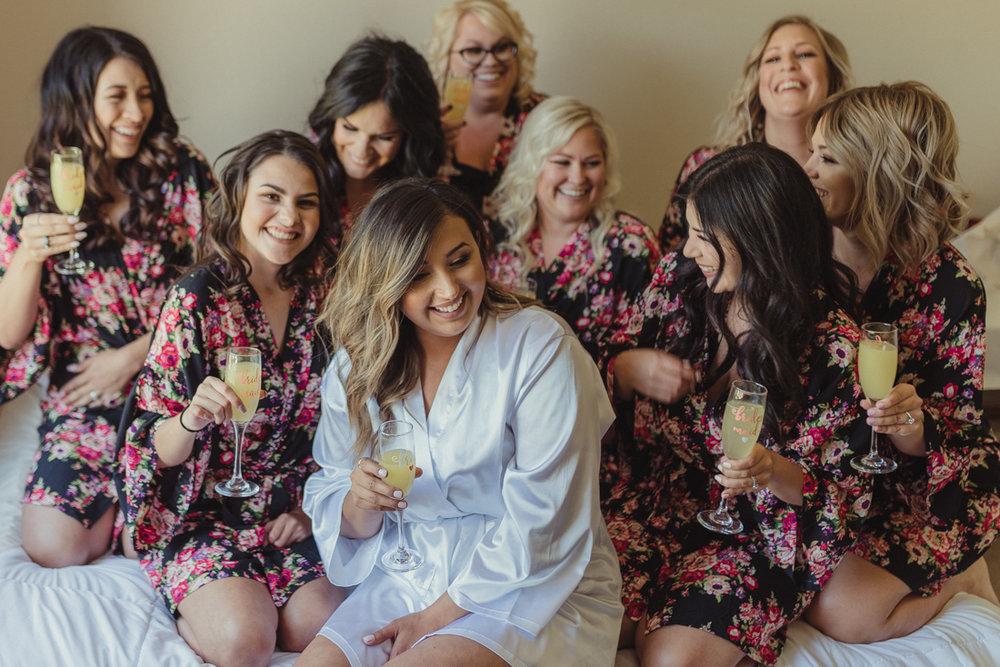 Reno Wedding girls getting ready photo