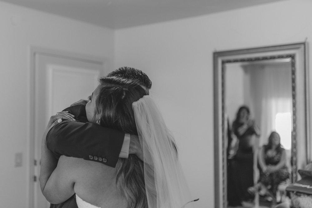 Tannenbaum Wedding Venue, dad hugging his daughter photo