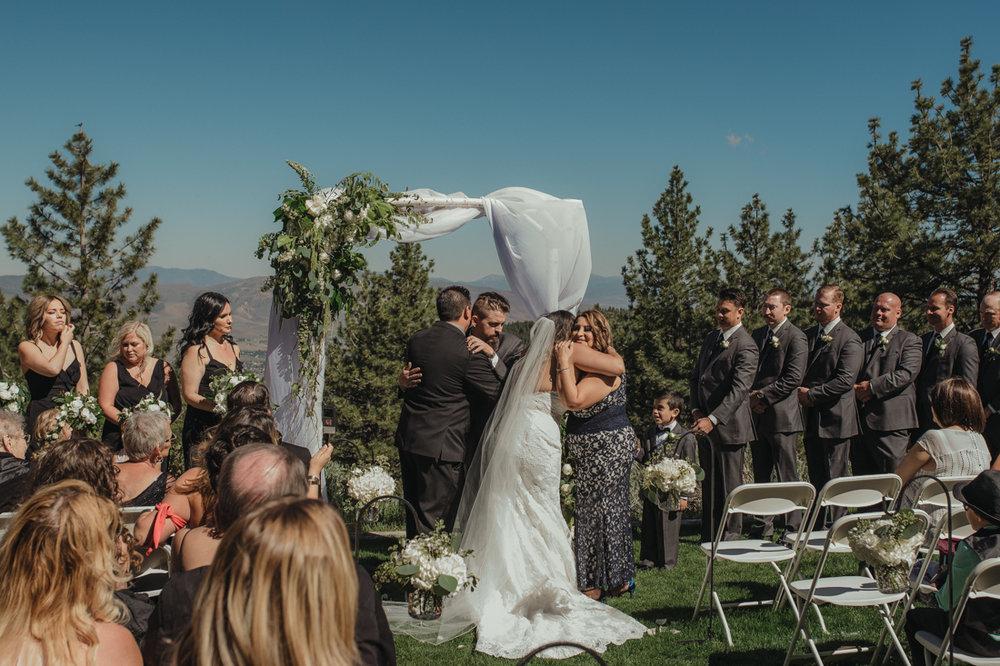 Tannenbaum wedding ceremony family photo