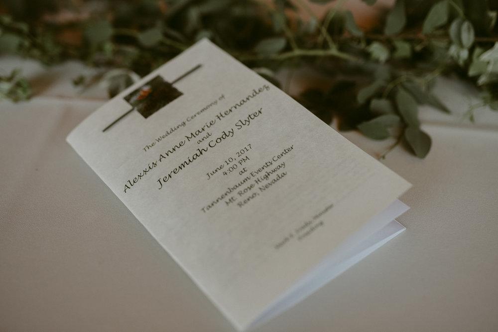 Tannenbaum wedding details photo