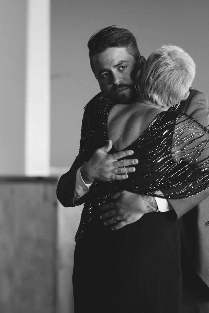 Tannenbaum wedding son and mom dance photo