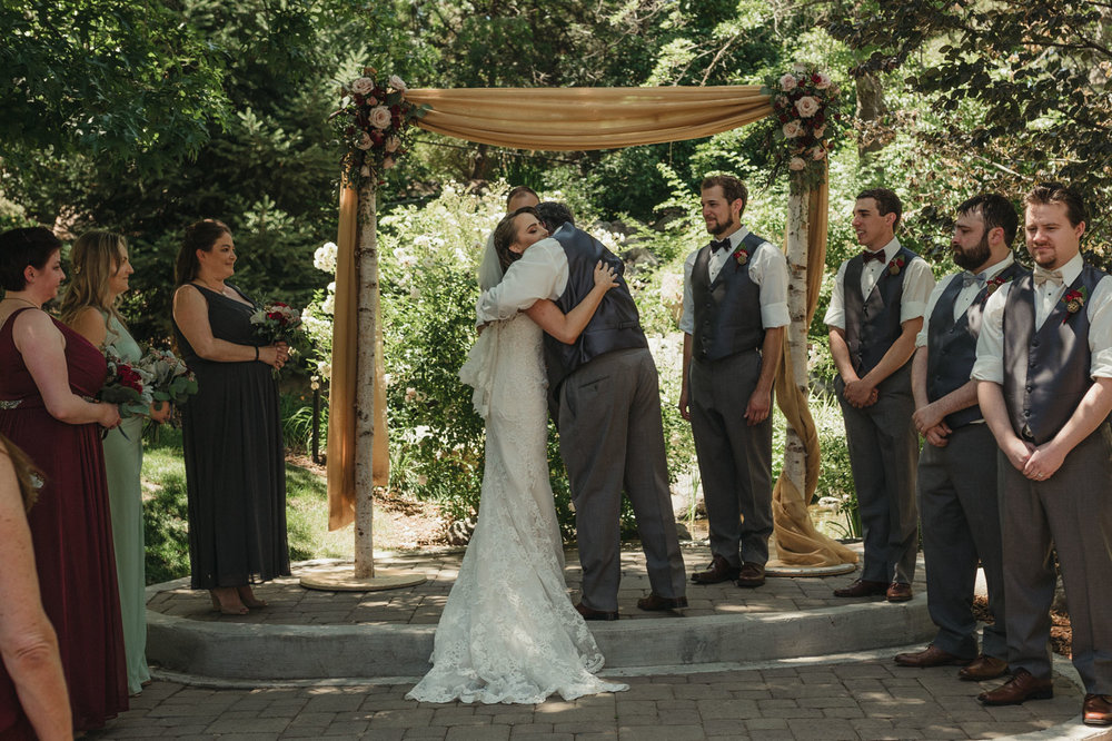 Wilbur D May Museum wedding ceremony photo