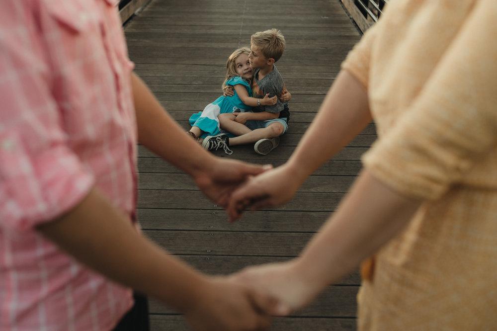 Rancho San Rafael Regional Park, siblings hugging photo