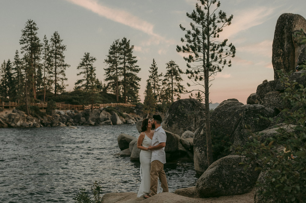 Lake Tahoe elopement photo