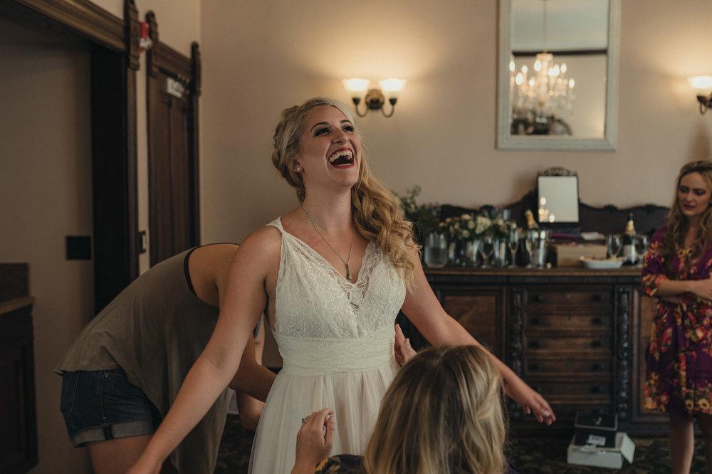 Wedgewood Sequoia Mansion wedding bride smiling photo