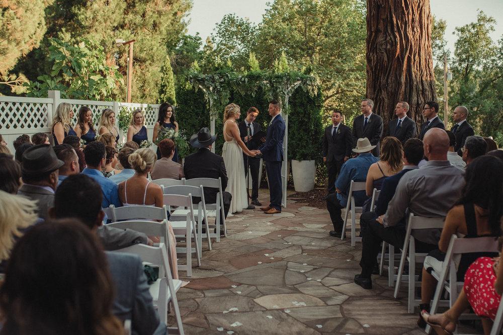 Wedgewood Sequoia Mansion wedding ceremony photo
