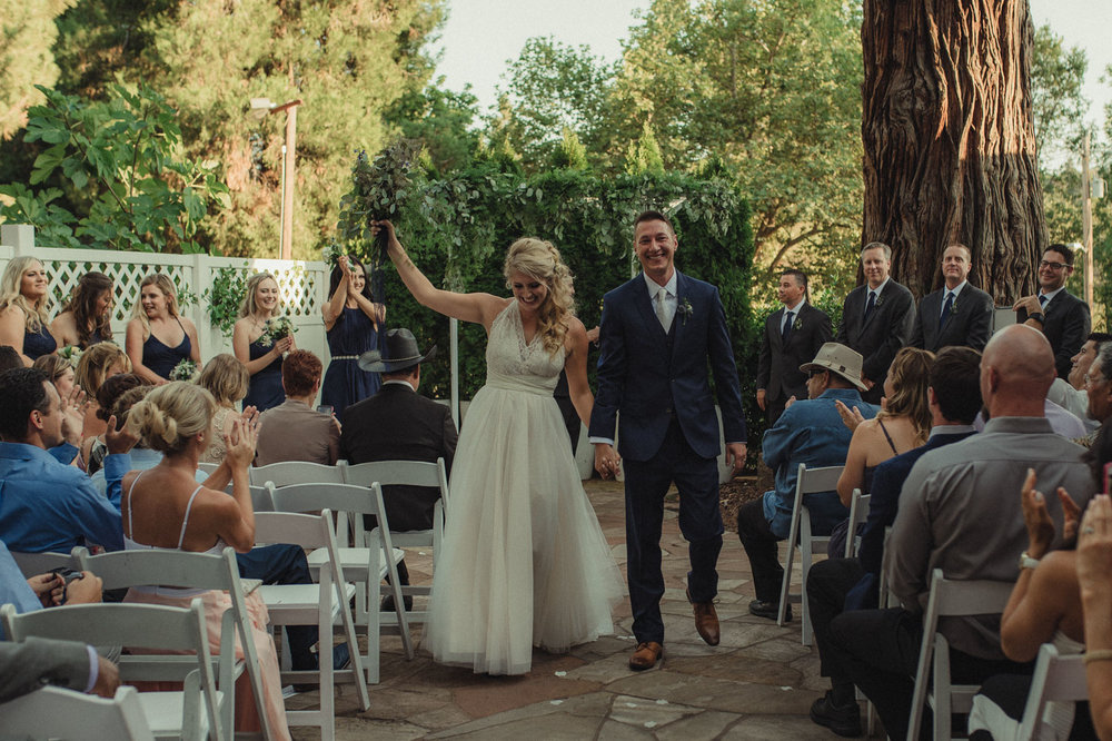 Wedgewood Sequoia Mansion wedding walking down the aisle photo