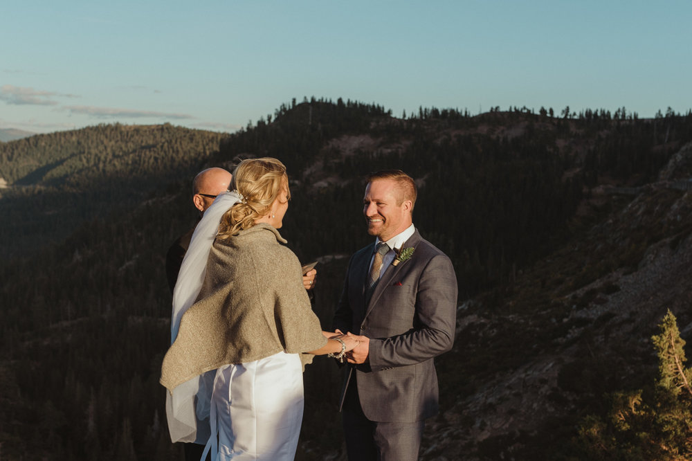 North Lake Tahoe wedding ceremony photo