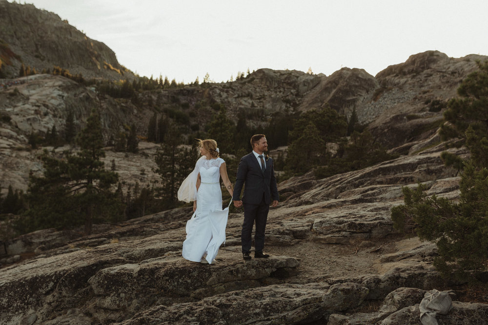 North Lake Tahoe elopement photo
