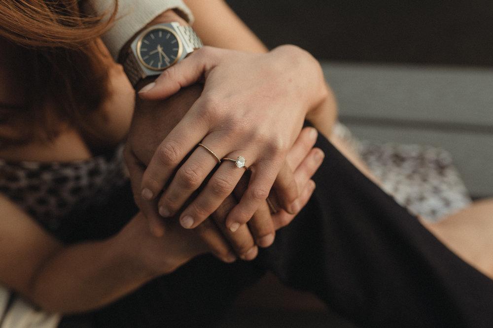 North Lake Tahoe engagement ring photo