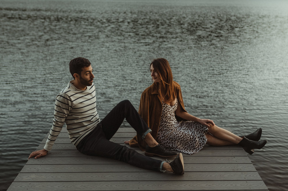 North Lake Tahoe engagement editorial photo