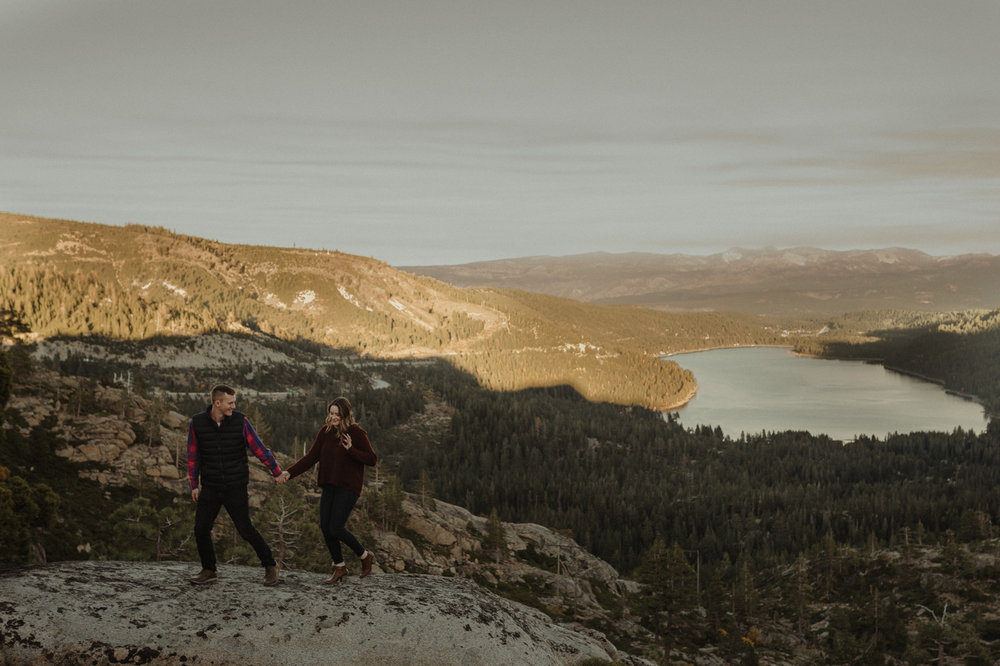 Donner Pass engagement session photo